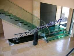 Ապակյա աստիճաններ և բազրիքներ - astichanner, bazriqner - photo 4