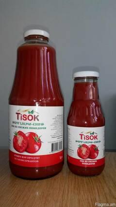 Абрикосовий, томатний сок прямого отжима без консервантов