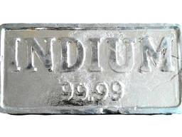Indium ձուլակտոր մետաղական ինդումի ապրանքանիշ In