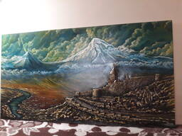 Картина Ararat 1, 30×70см