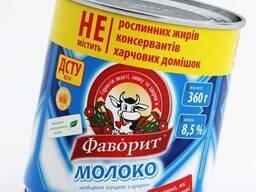 """Молоко цельное сгущенное с сахаром """"Фаворит"""""""