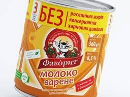 """Молоко цельное сгущенное вареное """"Фаворит"""" 8,5% жирности"""